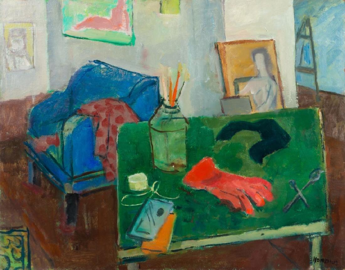 Gerrit Hondius (American, 1891-1970) Still Life with