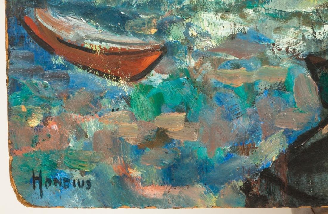 "Gerrit Hondius (American, 1891-1970) ""Fishing Village"" - 2"
