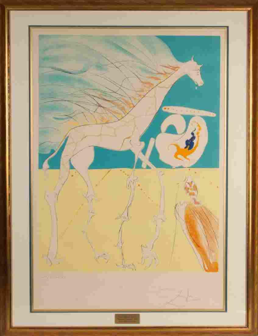 """Salvador Dali (Spanish, 1904-1989) """"Saturnian Giraffe"""""""