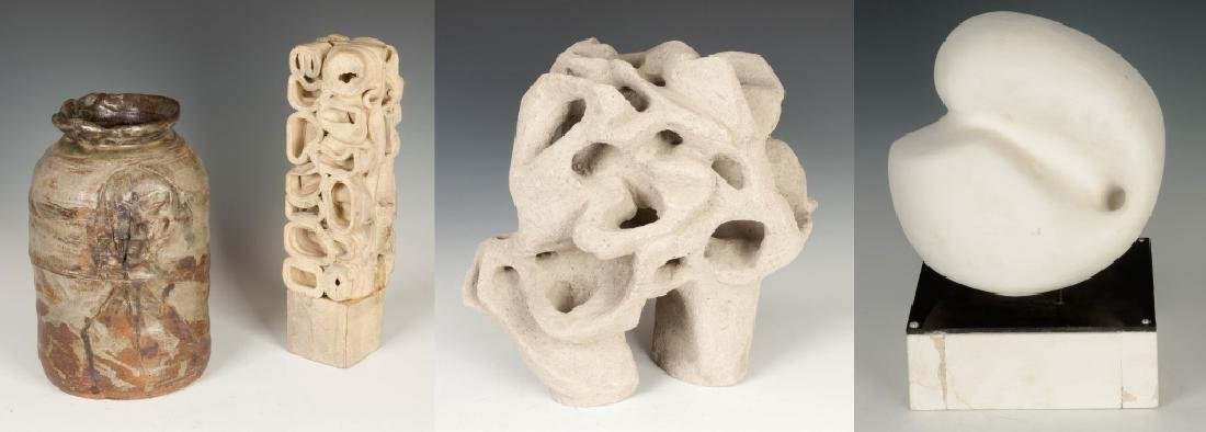 Four Contemporary Sculptures/Vase