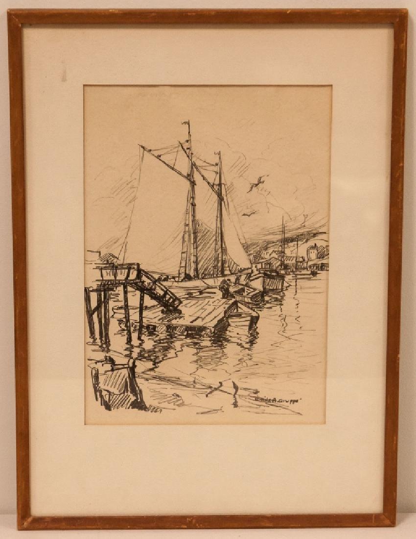 Emile Albert Gruppé(American, 1896–1978) Harbor