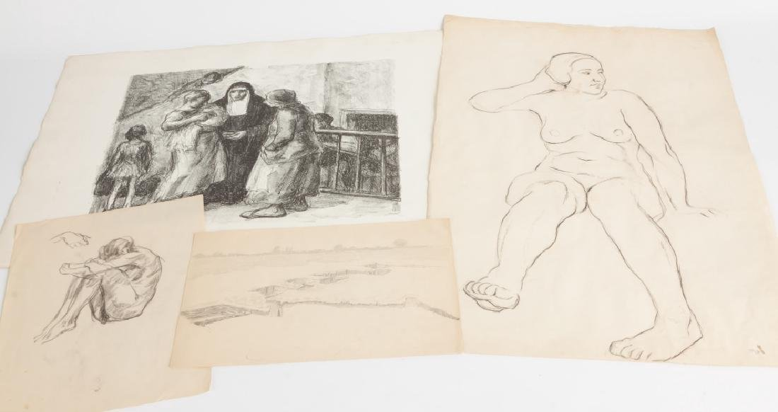 Various Etchings and drawing by George A. Renouard
