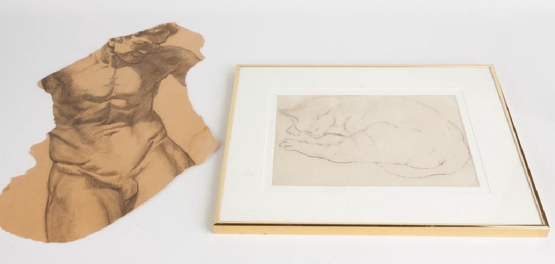 Various Etchings and drawing by George A. Renouard - 5