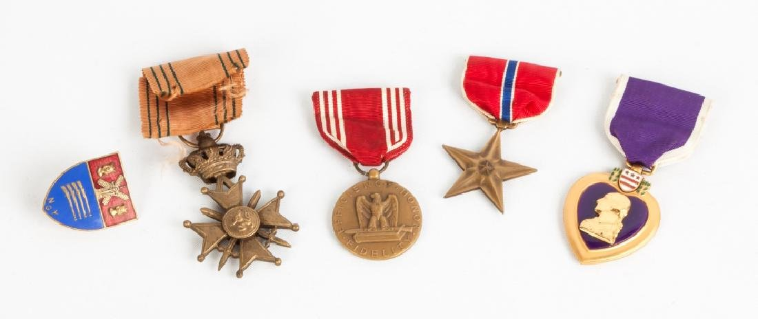 Group of Five Military Medals including a Purple Heart