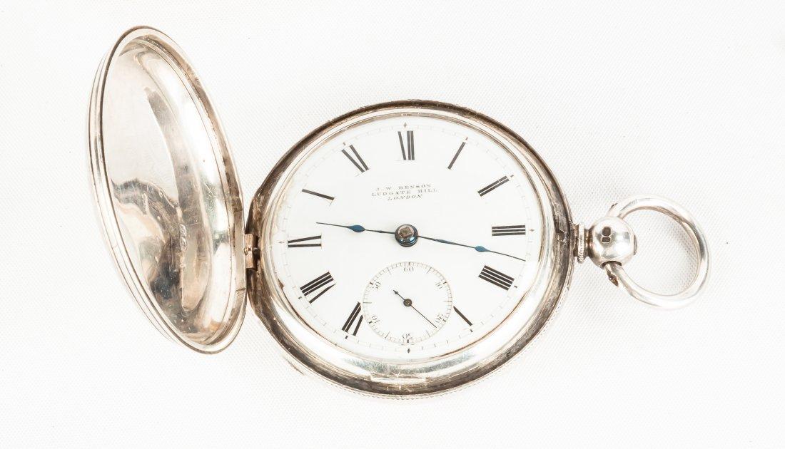 J.W. Benson, London, Coin Silver Pocket Watch