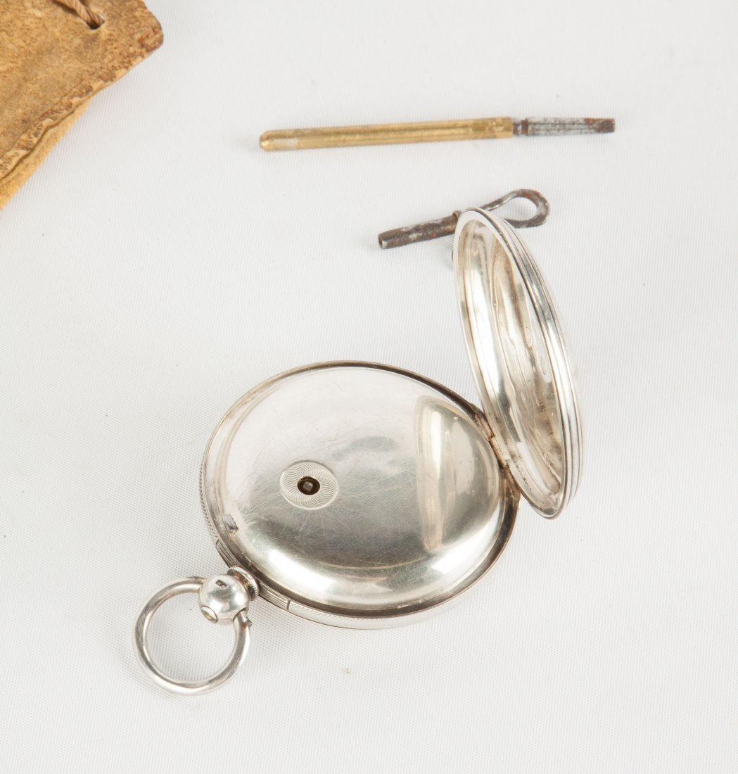 J.W. Benson, London, Coin Silver Pocket Watch - 3