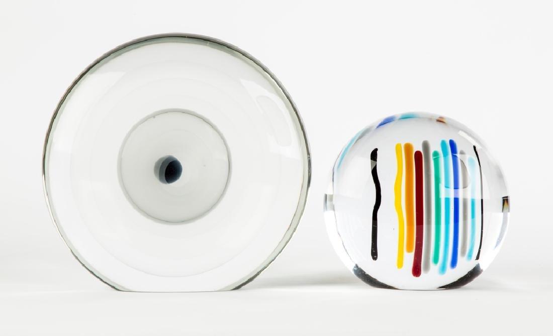 Two Livio Seguso (Italian, Born 1930) Glass Vases
