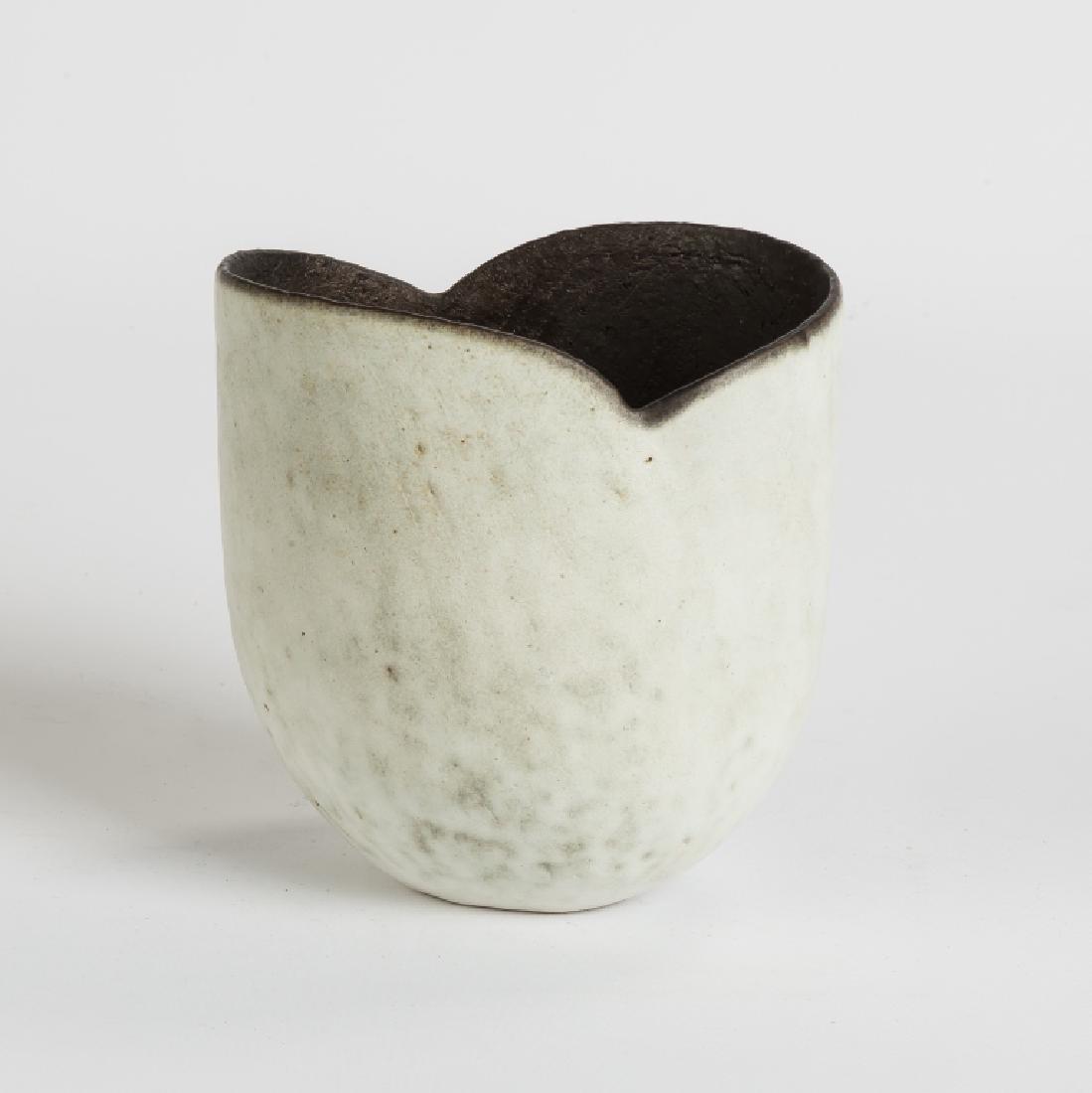 John Ward (English, born 1938) White Oval Pot with