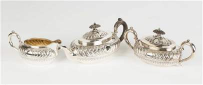 Gorham Three Piece Sterling Silver Tea Set