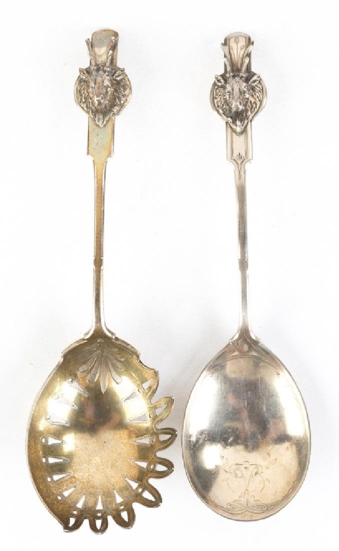 Gorham Sterling Silver Serving Pieces with Deer Heads