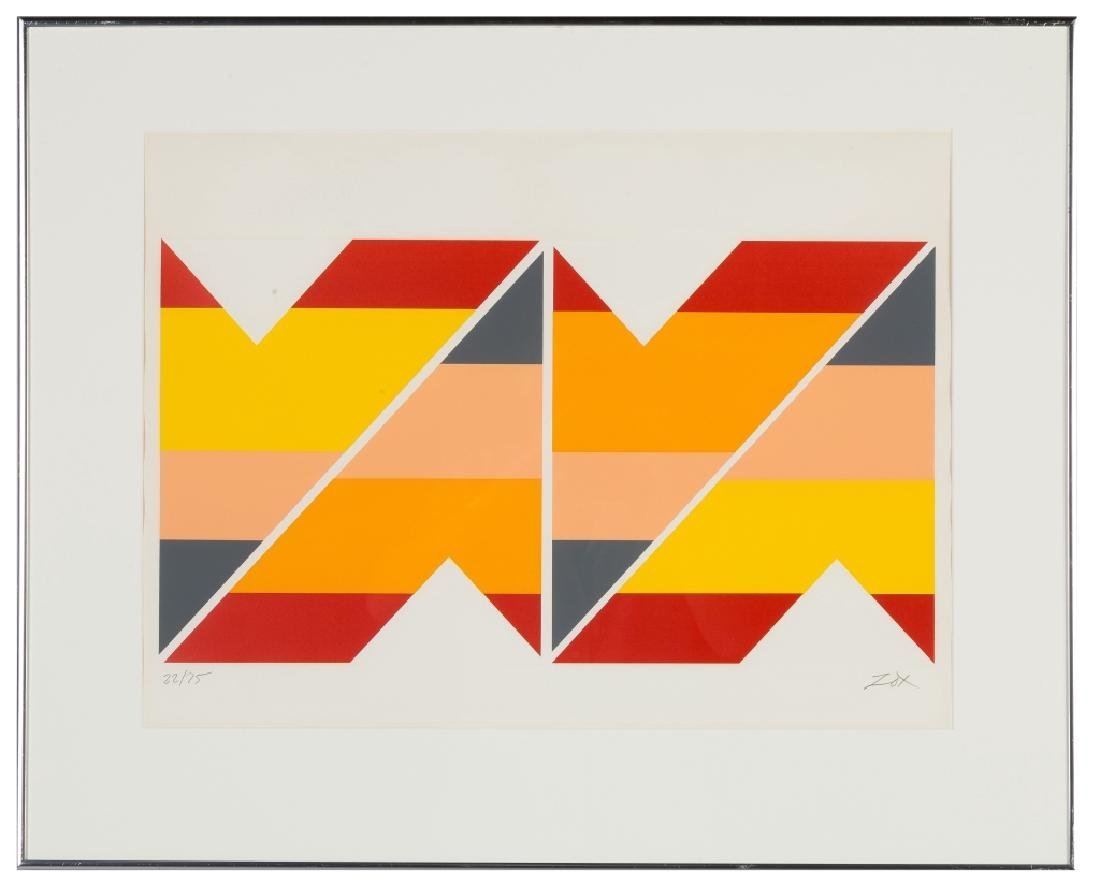 Larry Zox (American, 1936–2006) Screen-print