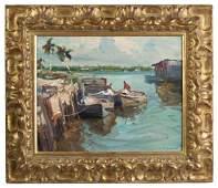"""Emile Albert Gruppe (American, 1896–1978) """"Naples, FL"""""""