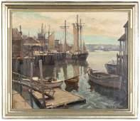 "Emile Gruppe (American, 1896-1978) ""Town Landing"