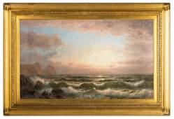 William Trost Richards (American, 1833-1905) Seascape