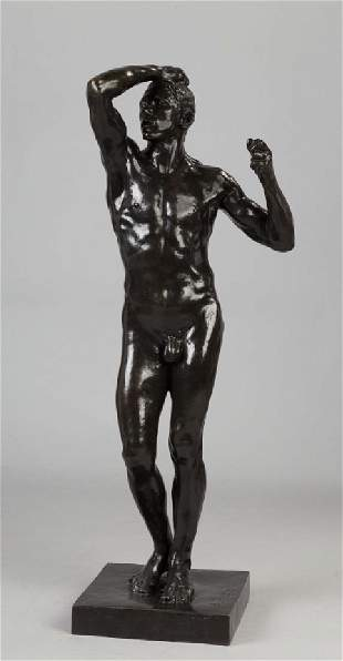 """Auguste Rodin (French, 1840-1917) """"Age of Bronze"""""""