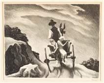 """Thomas Hart Benton (American, 1889-1975) """"Goin Home"""""""