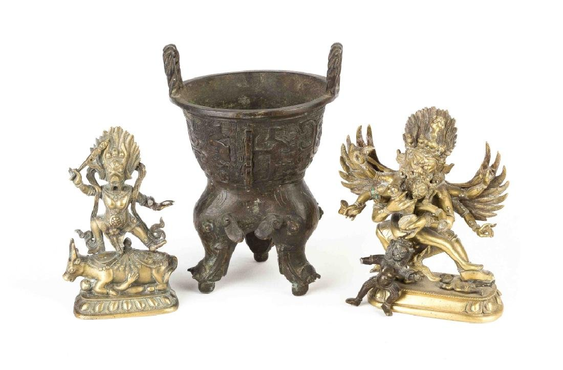 Group of Asian Bronze Items