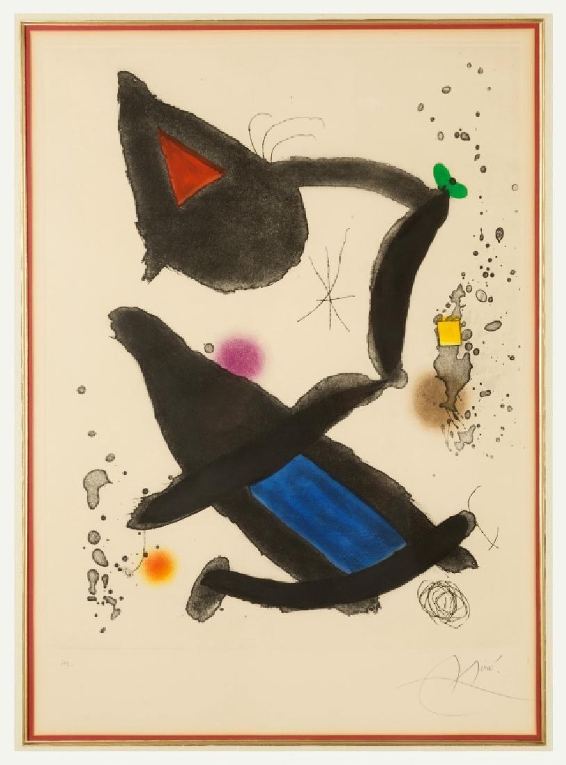 "Joan Miro (Spanish, 1893-1983) ""Le Roi David"" (King"