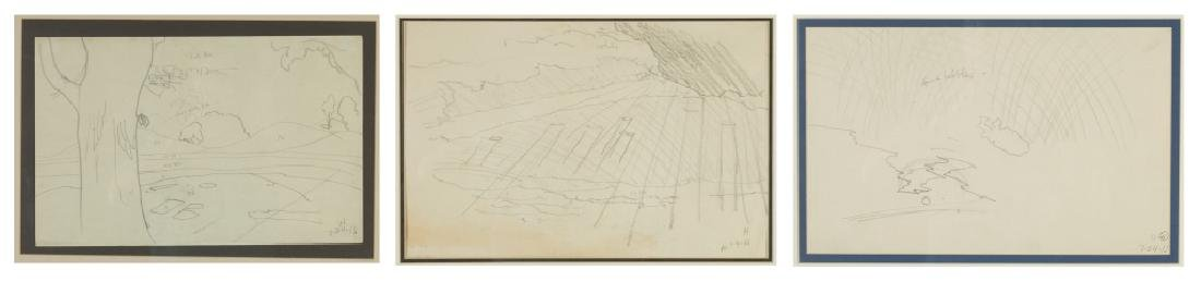 Charles Ephraim Burchfield (American, 1893-1967) Three