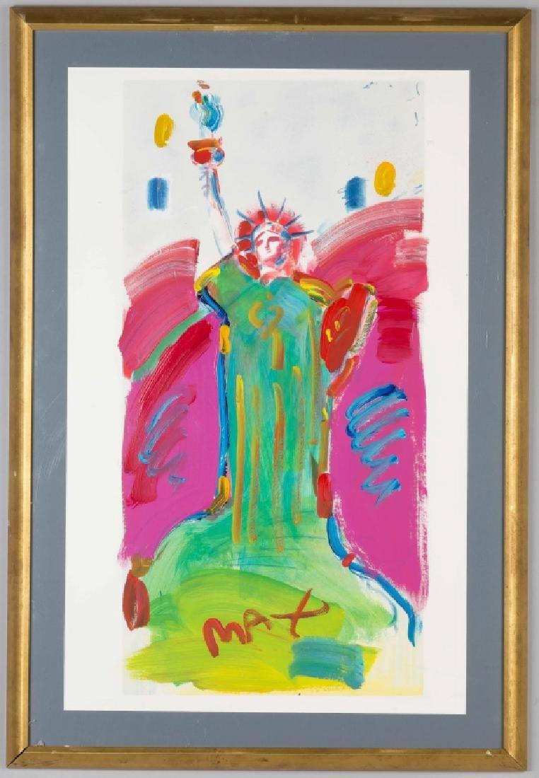 "Peter Max (American, born 1937) ""Statue of Liberty"""