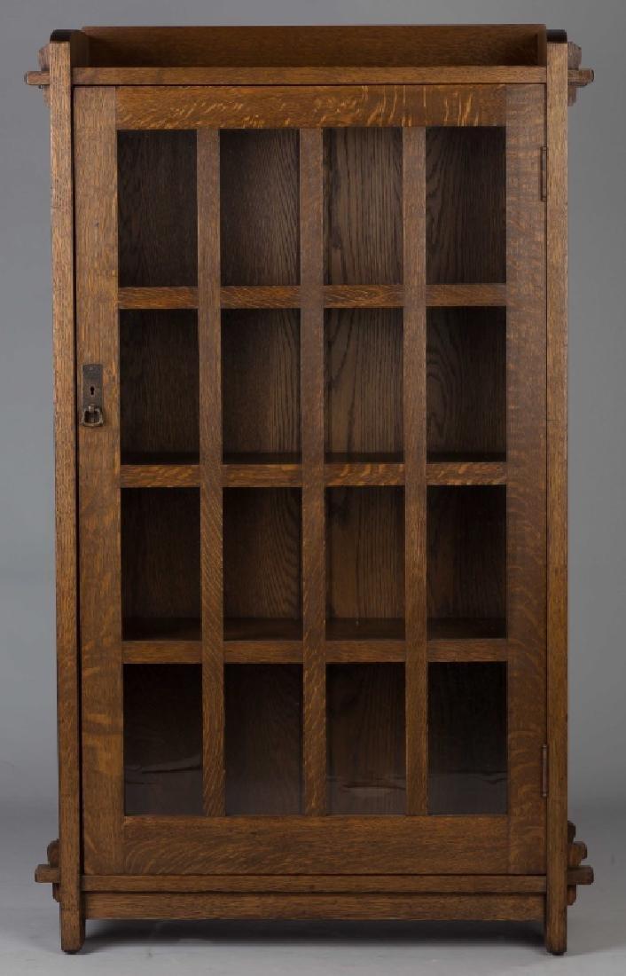 Gustav Stickley Single Door Bookcase