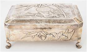 Chinese Export Sterling Silver Jewelry Box