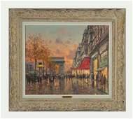 Jean Salabet born 1900 Paris Street Scene