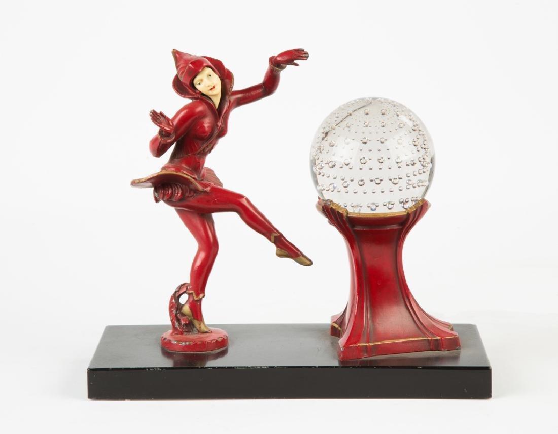 Art Deco Figural Lamp