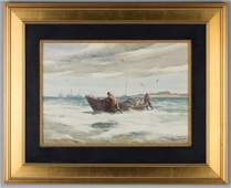Gordon Hope Grant (American, 1875-1962) Boat Ashore