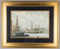 Gordon Hope Grant (American, 1875-1962) Harbor Scene
