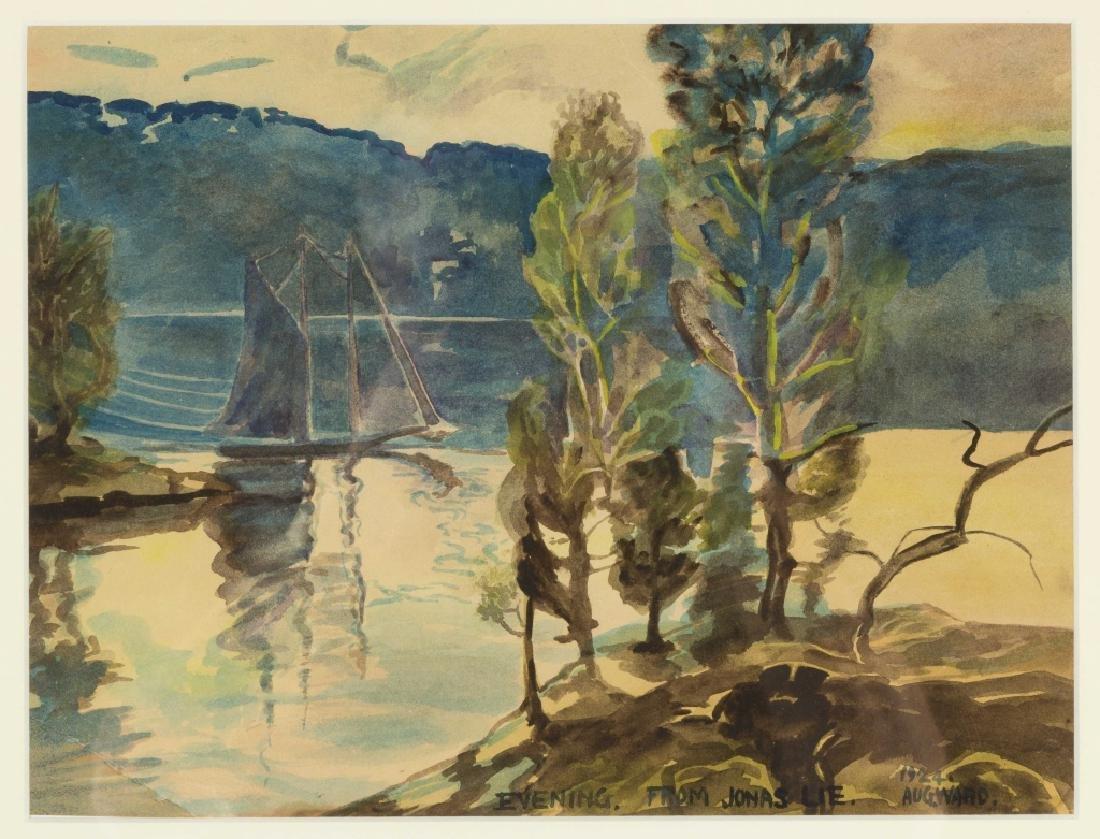 Jonas Lie (American/Norwegian, 1880-1940) Lake Scene