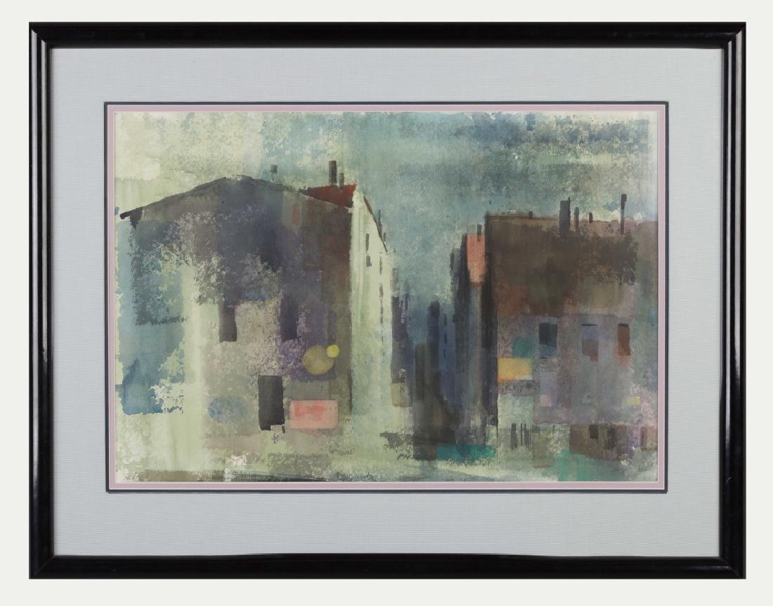 Ralph Hillyer Avery (American, 1906-1976) Cityscape