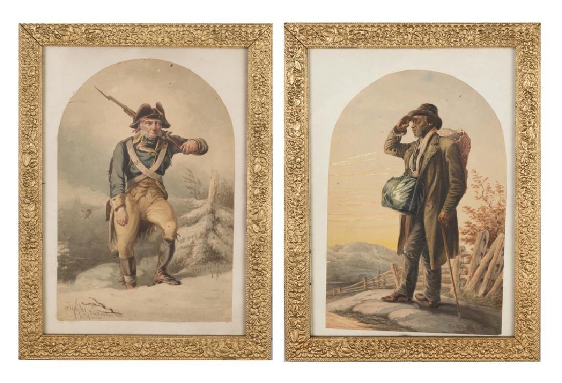Two John Chapin (American, 1823-1904) Watercolors