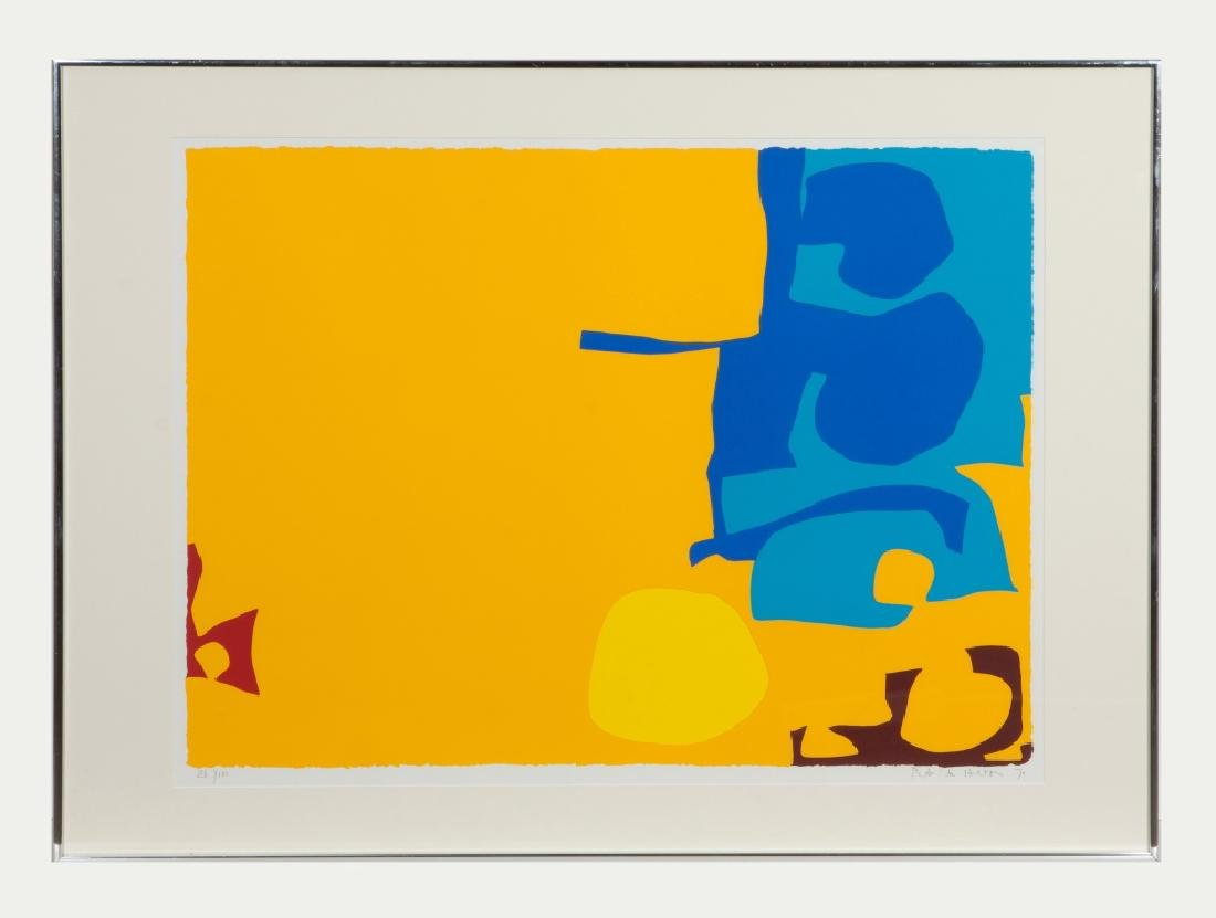 "Patrick Heron (British, 1920-1999) ""Blues Dovetailed in"
