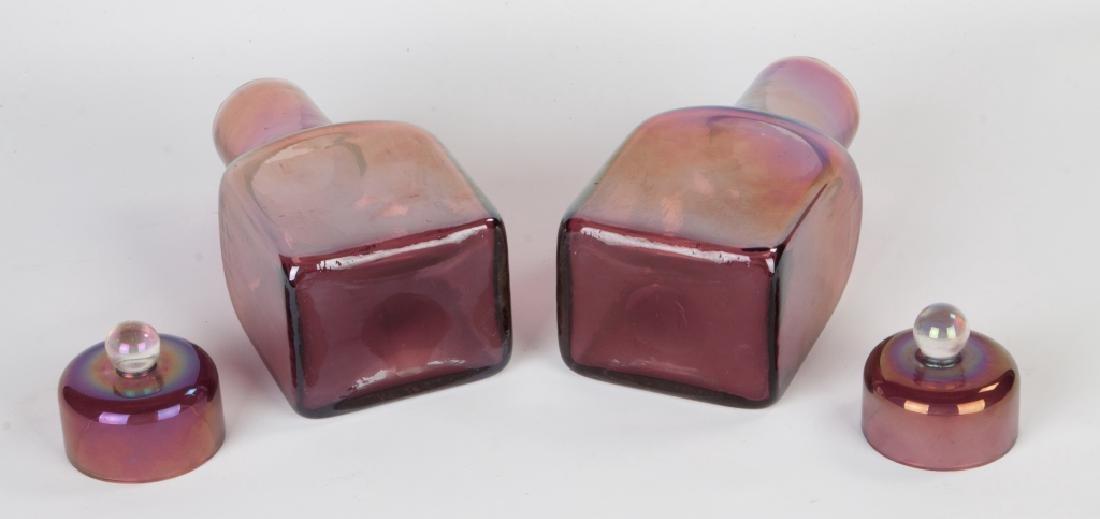 Barovier & Toso Pair of Iridescent Bottles - 3