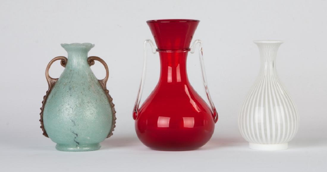 Group of Italian Art Glass Vases