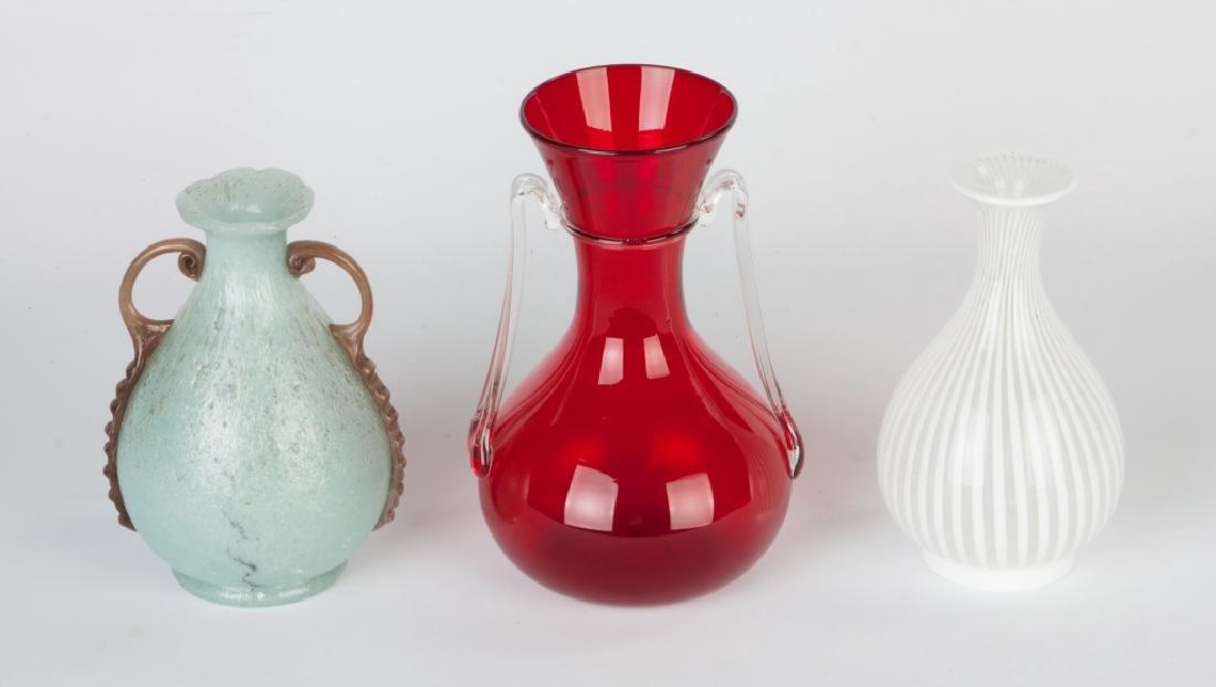 Group of Italian Art Glass Vases - 2
