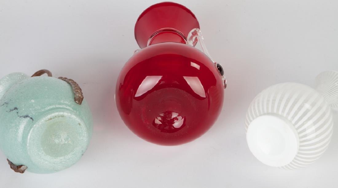 Group of Italian Art Glass Vases - 3