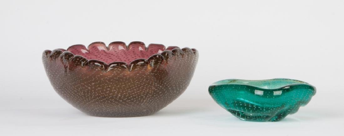"Two Flavio Poli for Seguso ""Bullicanti"" Bowls"