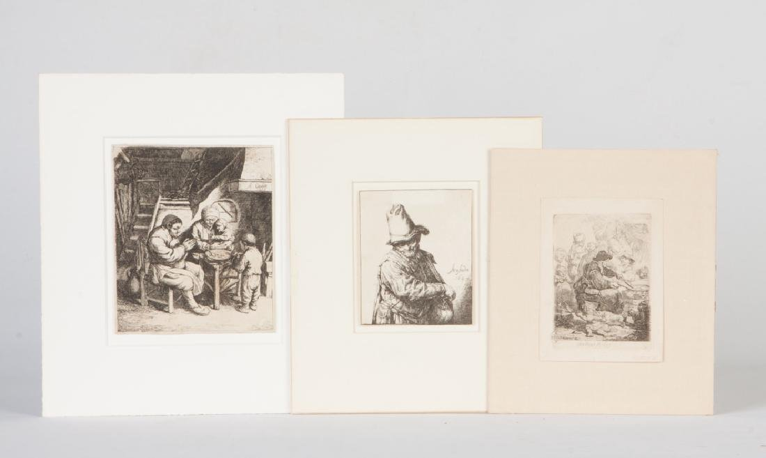 Group of Three Early Etchings