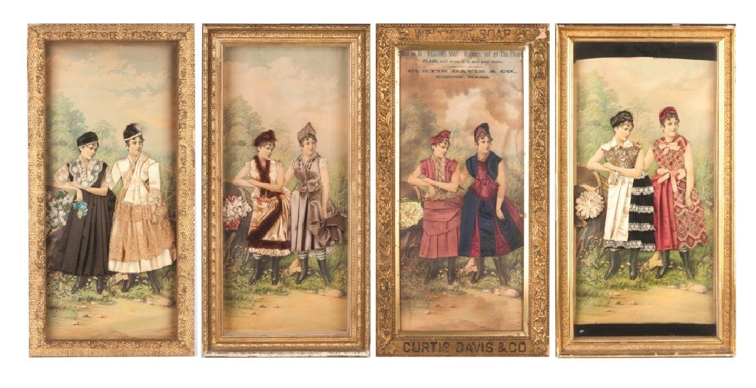 Group of Victorian Advertising Signs & Shadow Boxes