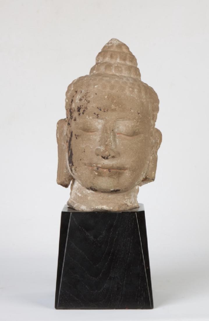 Cambodian Stone Head