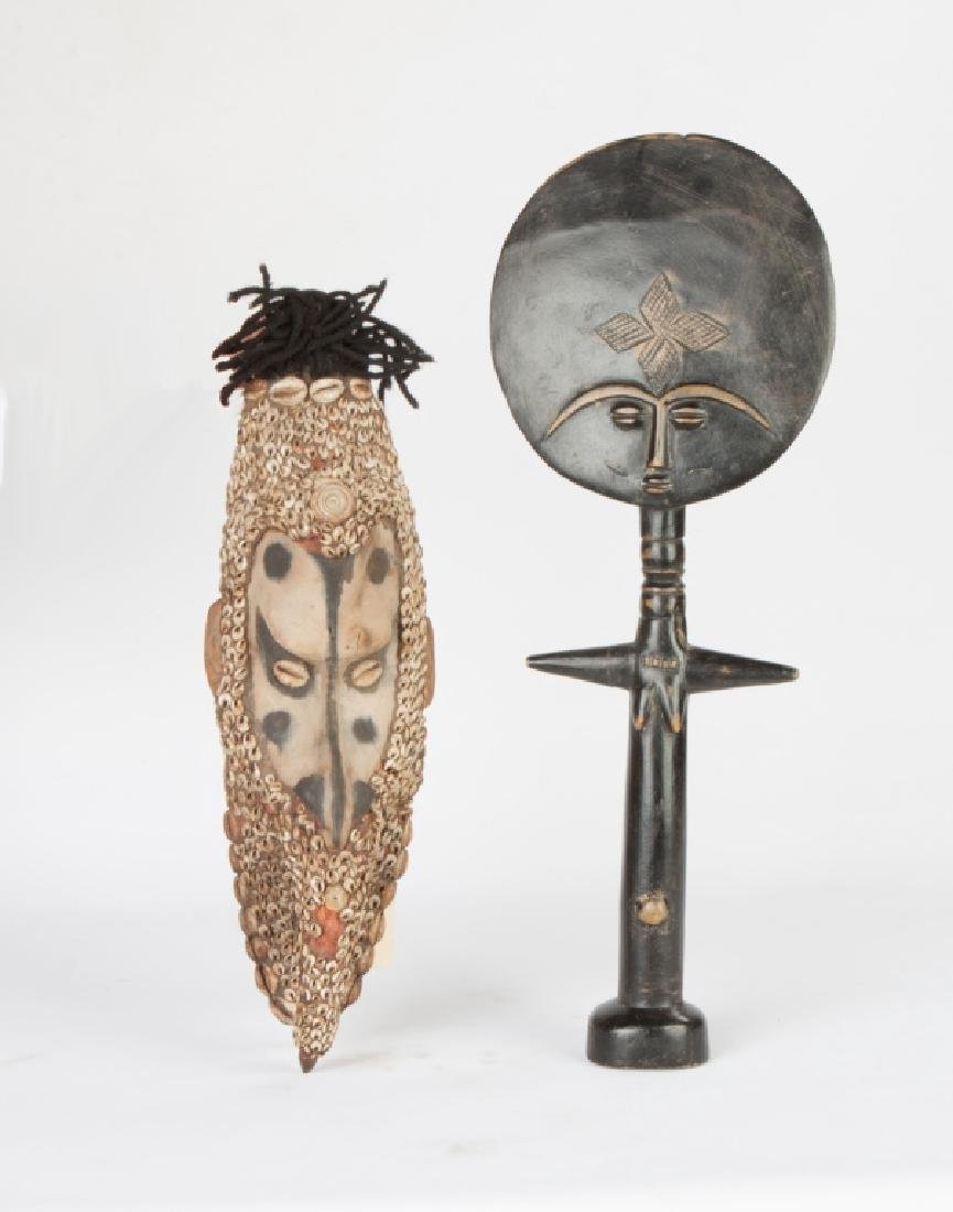 African Ashanti Doll and Indonesian Mwai Mask