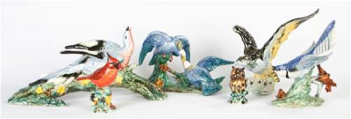 Group of Stangl Pottery Birds