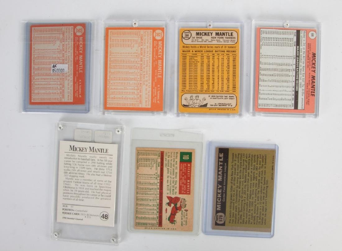 Group of Seven Topps & Investor's Journal Mickey Mantle - 2