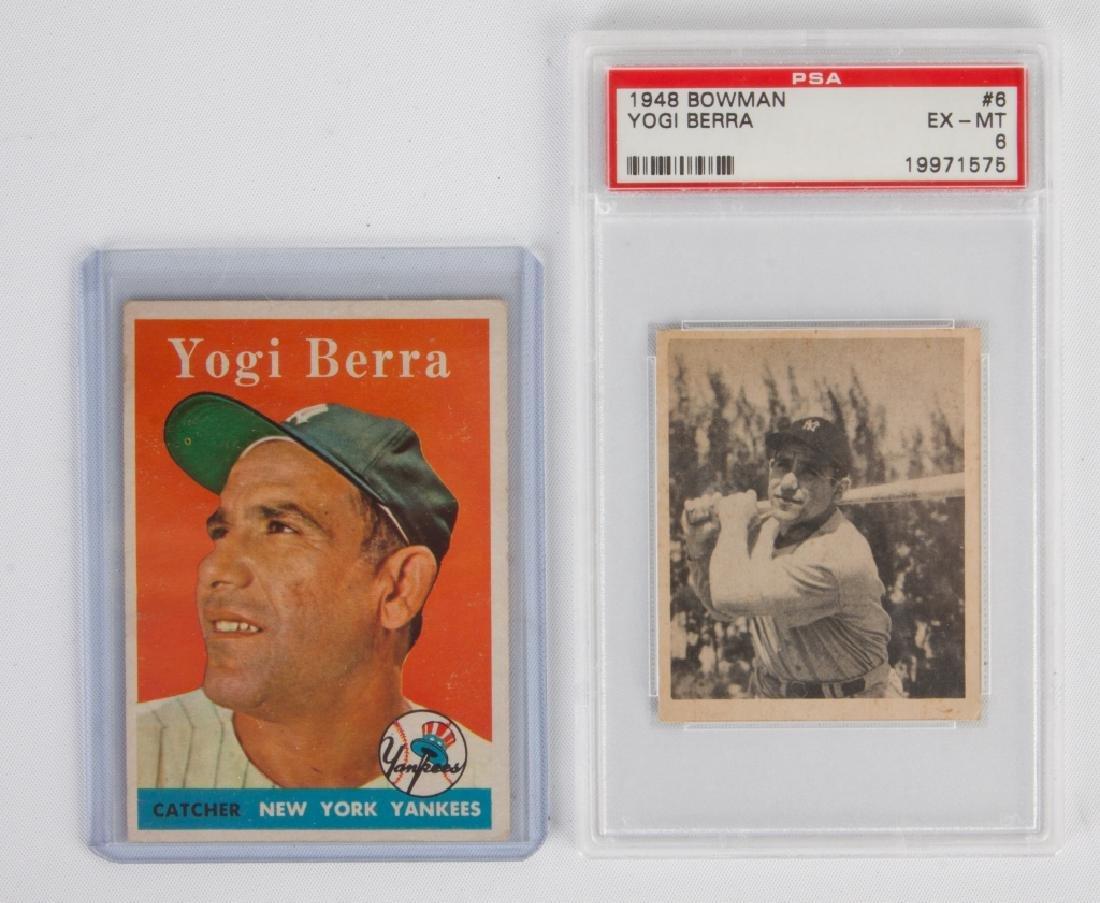 1958 Topps Yogi Berra #370 & 1948 Bowman Yogi Berra #6