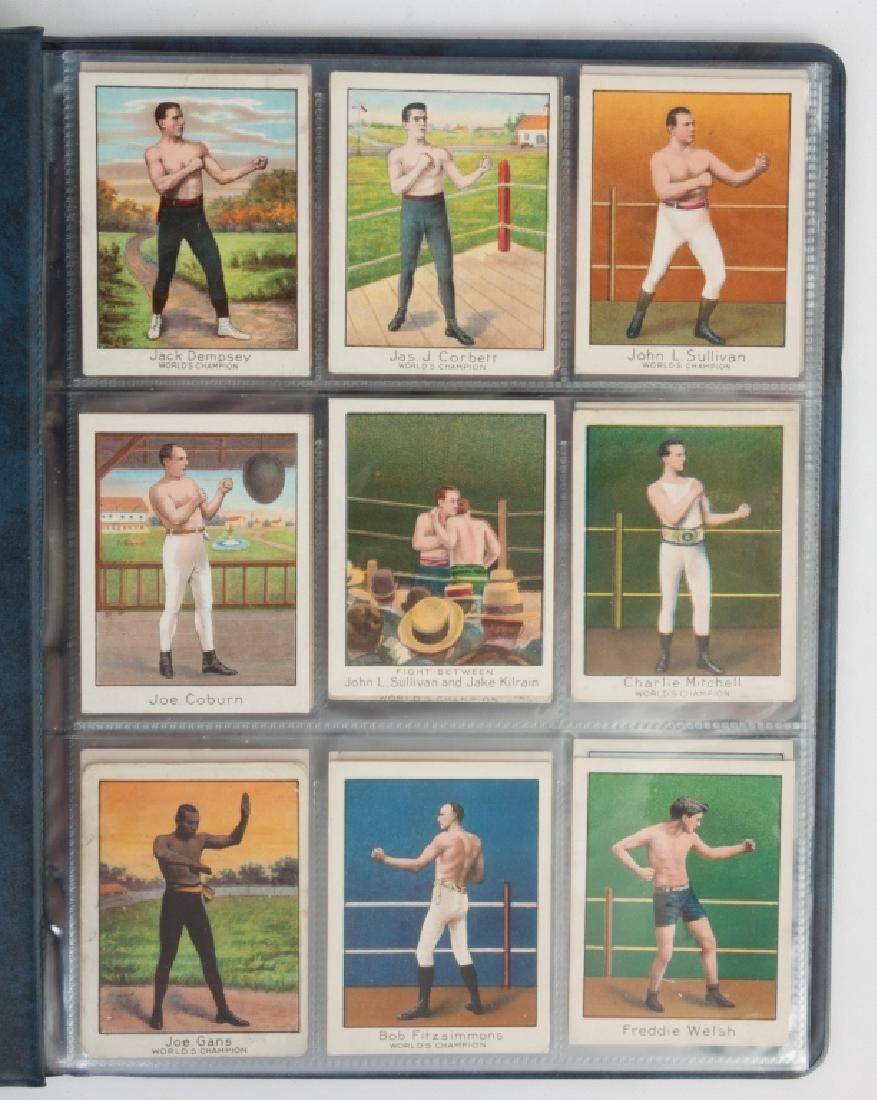 Group of 1910 T220 Mecca Cigarette Boxing Cards