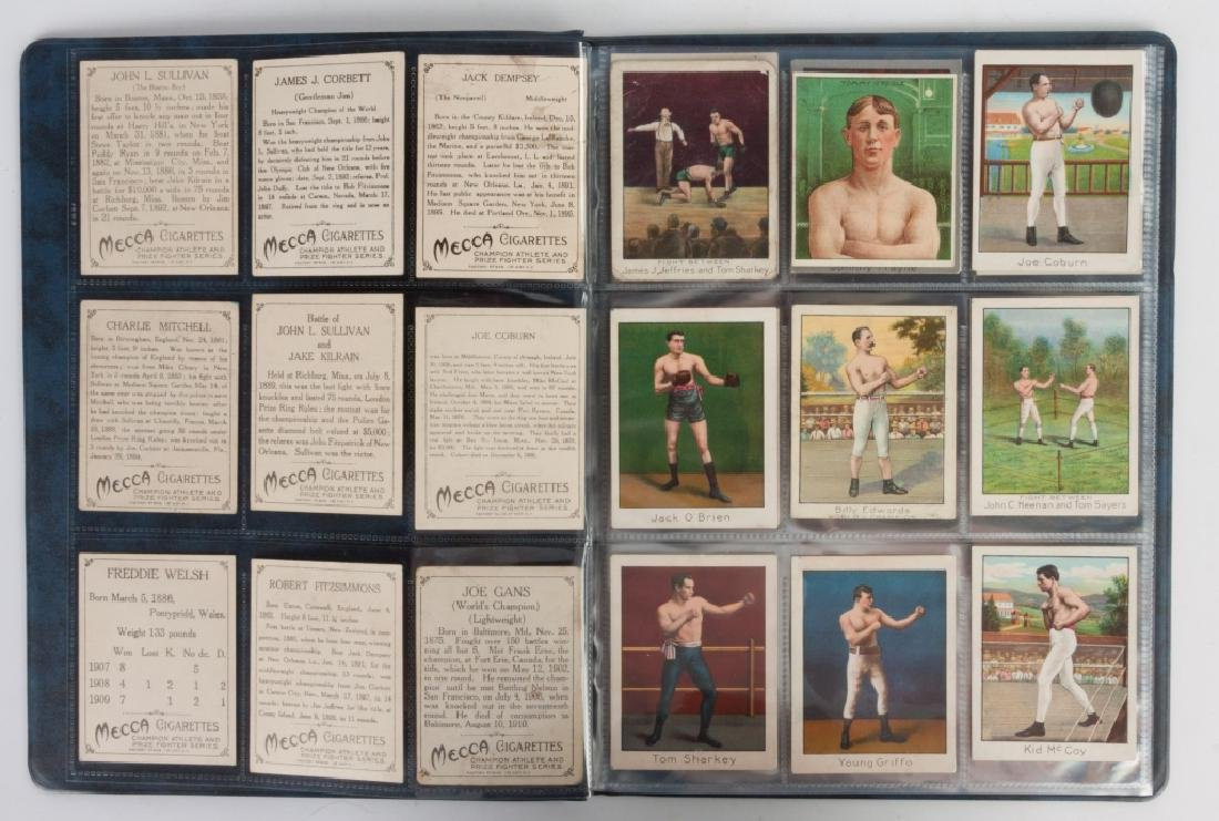 Group of 1910 T220 Mecca Cigarette Boxing Cards - 2