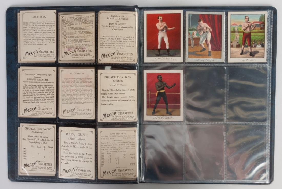 Group of 1910 T220 Mecca Cigarette Boxing Cards - 3