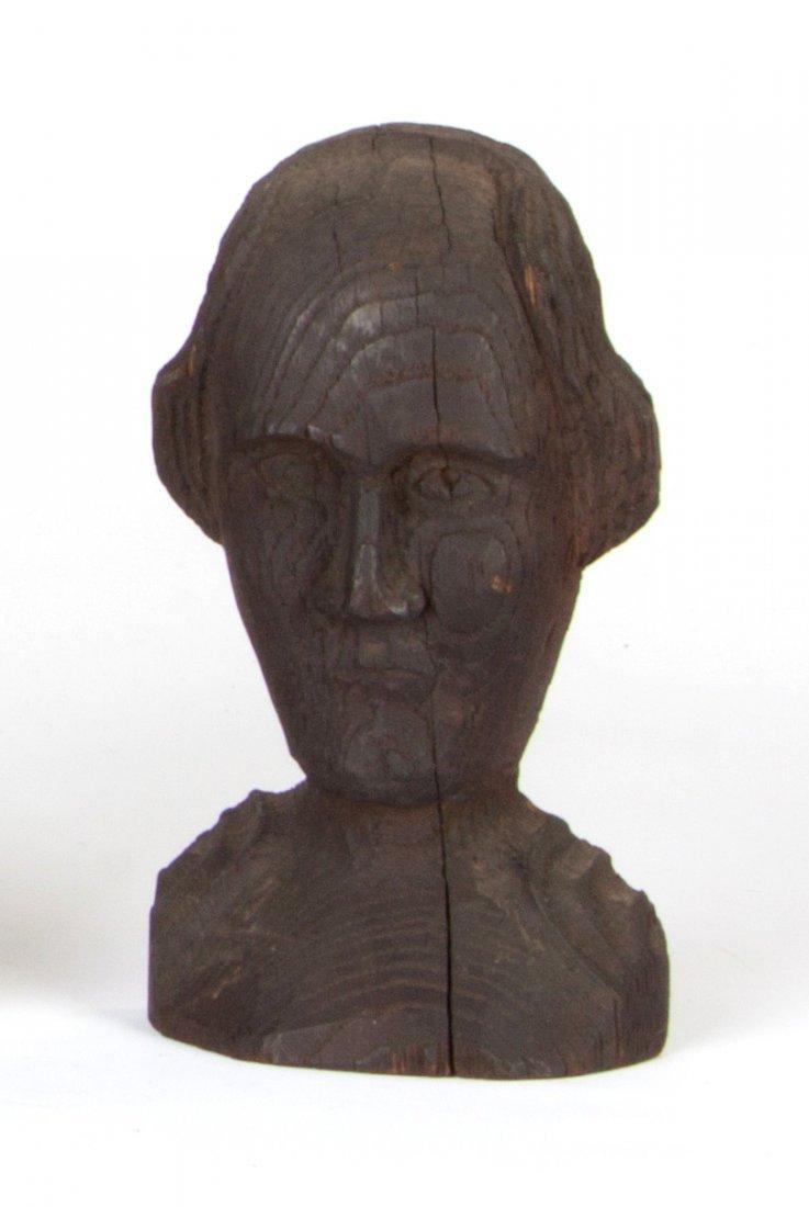 Folk Art Wood Carving of George Washington